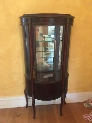 Antique/Vintage French Wood Curio Display Cabinet Victorian
