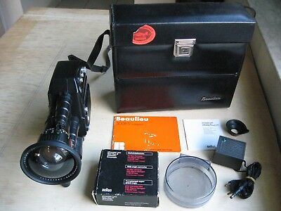 Beaulieu 5008S MultiSpeed Camera Schneider 6-70MM, f/1.4 Zoom Wide 4MM Lens Case