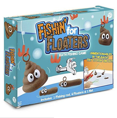 Fishing Tool For Floaters Game Kids Bathroom Novelty Toy Poop Poo Bath Xmas Gift