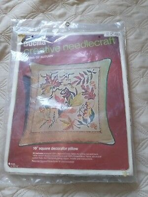 Bucilla Creative Vintage Needlecraft Decorator Cushion Kit