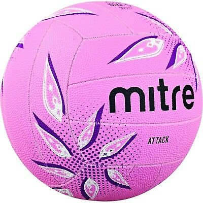 Mitre Attack Training Netball Pink/Purple/White Without Ball Pump Size 5