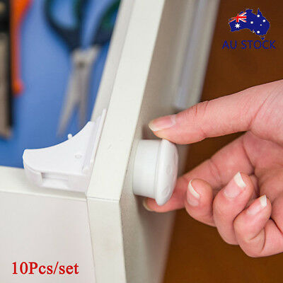 AU 10~50X Magnetic Cabinet Drawer Cupboard Locks for Baby Kids Safety Child Lock