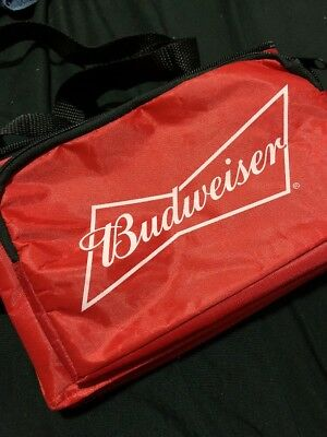 Budweiser Small Red Insulated Promotional Picnic Cooler Bag