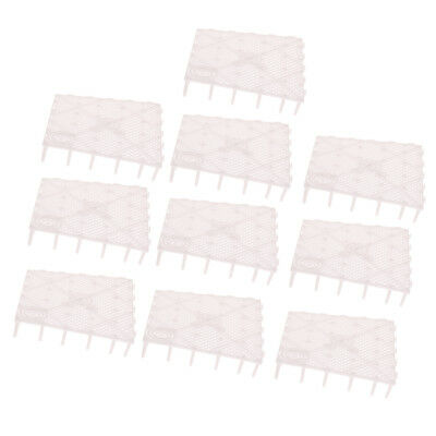 Isolamento di 10 pezzi Grid Divider Tray Acquario Fish Tank Bottom Sand