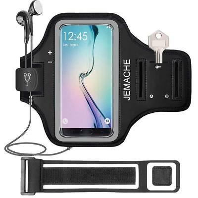 Galaxy S9/S8/S7 Edge Armband, JEMACHE Gym Running/Jogging/Exercise Workout...