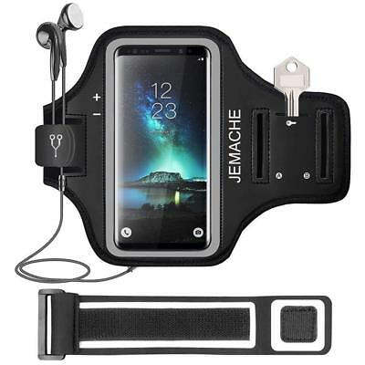 Galaxy Note 9/8 Armband, JEMACHE Gym Running/Exercise/Workout Arm Band Case...