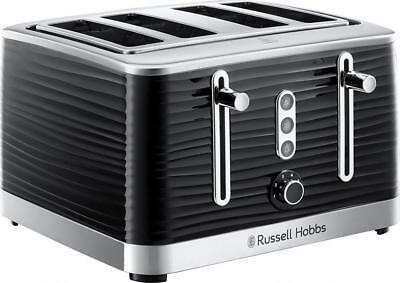 Russell Hobbs 24381 Inspire Black High Gloss Plastic Four Slice Toaster