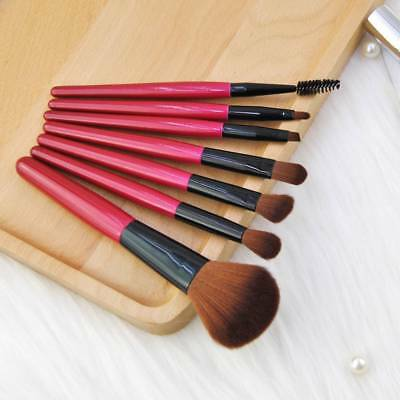 7 Pcs Makeup brushes Women beauty Tools Accessories 1Set Foundation Brush Red