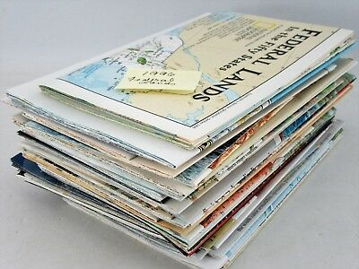 Lot of 52 National Geographic Maps 1987, 1991–1996, 2002–2009