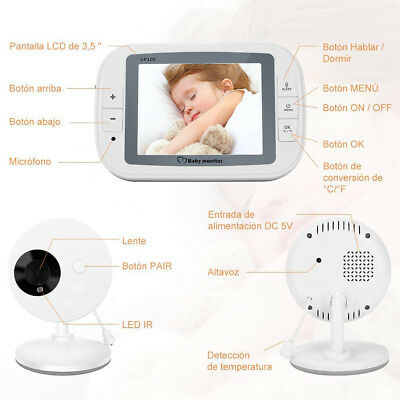 """New Lcd Security 3.5"""" Inch Wireless Video 2.4Ghz Baby Monitor+3 Yr Wty Babies"""