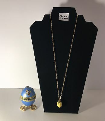 Imperial Table Top Egg with Egg Charmed Necklace
