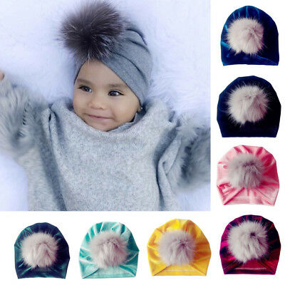 1Pc Newborn Toddler Kids Baby Boy Girl Venonat Turban Beanie Hat Headwear Hat
