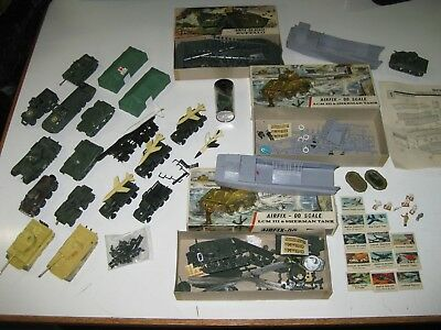 Vintage 1960´s Lot Job Airfix+Eko Ho 1/87 Tanks,boats,soldiers,miscellany