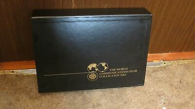 1983 The World Communications Year Stamp Album Limited Edition Of 5,000
