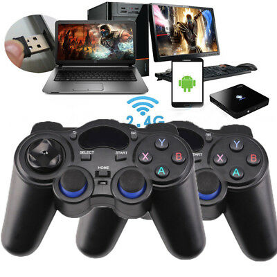 2PCS Wireless Funk Gamepad dual Vibration Controller für PC/PS3 Android phones