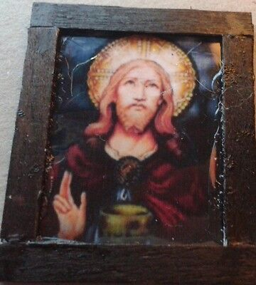Dolls House A Religious (stain glass look) Picture