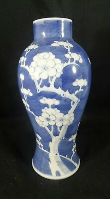 Antique Chinese Prunus blossom kangxi 19th Century tall jar Vase Asian Oriental