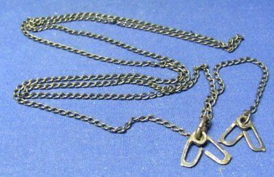 WWII Sterling Army USMC Navy Dog Tag Chain With J-Hooks WEIGHS 7.3 GRAMS