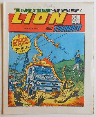 LION and THUNDER Comic - 14th July 1973