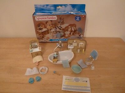 Sylvanian Families Country Bathroom Set Boxed 100% Complete
