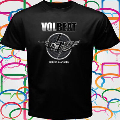 VOLBEAT Rebels and Angels Metal Rock Band Men's Black T-Shirt Size S to 3XL