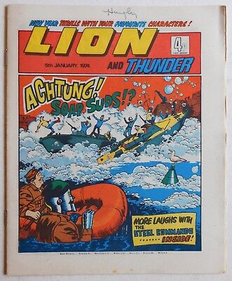 LION and THUNDER Comic - 5th January 1974