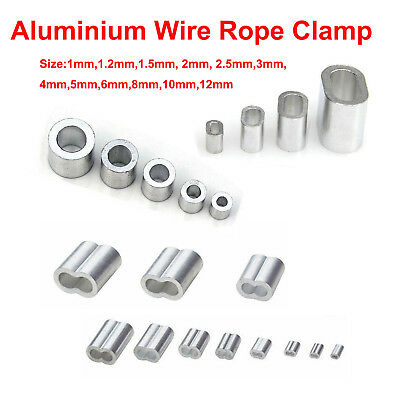 Aluminium Ferrules Steel Wire Rope Crimping Sleeve Round Double Hole Clamp