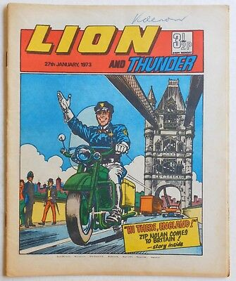 LION and THUNDER Comic - 27th January 1973