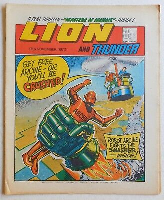 LION and THUNDER Comic - 17th November 1973