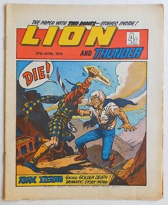 LION and THUNDER Comic - 27th April 1974