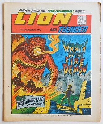 LION and THUNDER Comic - 1st December 1973
