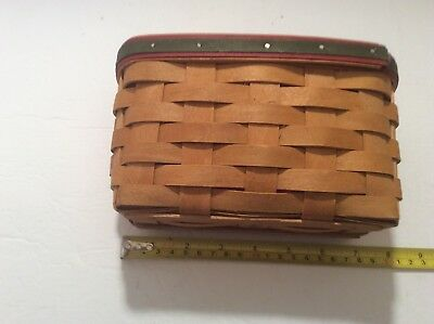 Longaberger Small cute Basket 2004 with liner rectangle
