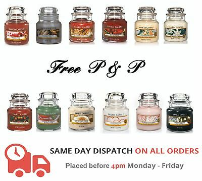 Yankee Candle Small Jar Various Fragrances - FREE P&P - LARGE SELECTION