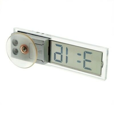 Car Electronic Clock Mini Durable Transparent LCD Display Digital with Suck T2F6