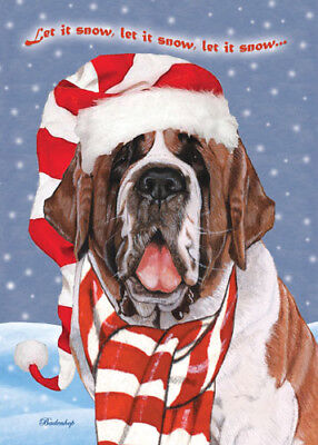 Saint Bernard Christmas Cards Set of 10 cards & 10 envelopes