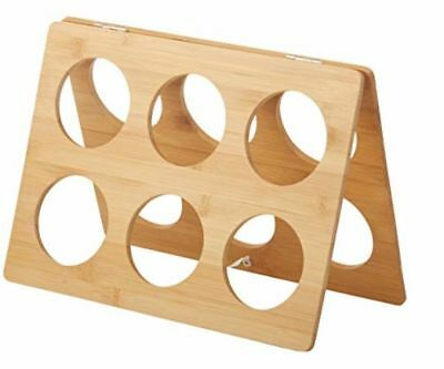 Bamboo Wine Rack 6 Bottles Capacity Space Saving Design Lightweight Durable Hold