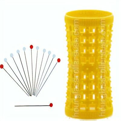 12 Metal Rollers Pins + Yellow HGR 27mm/1.06in – Pack of 12