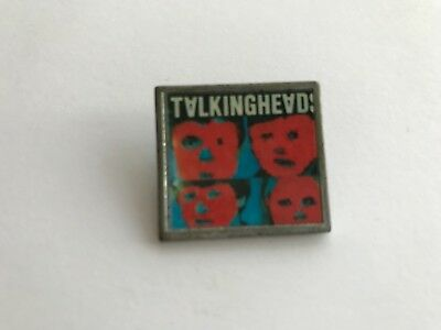 Metal and Plastic Pop Badge from the 80s TALKING HEADS by Banbury badges UK