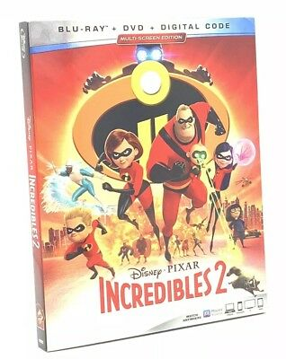 Incredibles 2, The (Blu-ray+DVD+Digital Code, 2018; 3-Disc Set) NEW w/ Slipcover