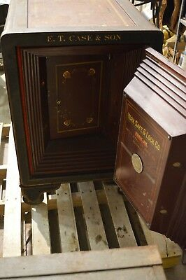Vintage Antique RARE Late 1800s - Early 1900s  E.T. CASE & SON YORK SAFES -NICE!