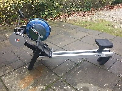 Fluid Rower 2 Water Wheel Rowing Machine with Adjustable Resistance.