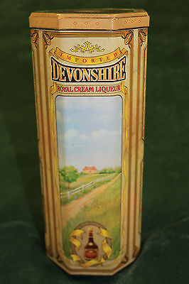 LIQUOR TIN~DEVONSHIRE ROYAL CREAM LIQUEUR~Free Shipping