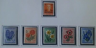 Netherlands stamps 1953 summer series MH
