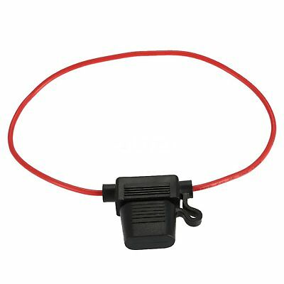 1 x In-line Mini Blade Fuse Holder Splash Proof 40A Cable Car Auto Bike Fuses