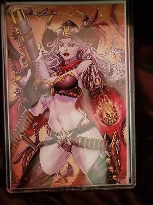 Very limited Comic Lady Death #24/25 issues signed by creator