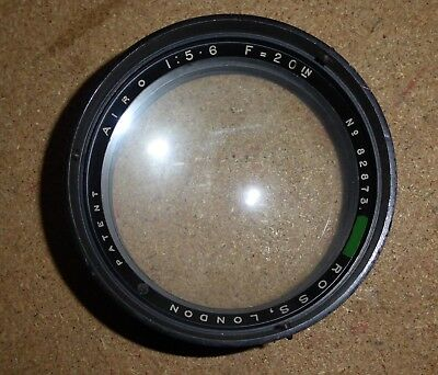 Vintage WD Ross Airo camera lens   f