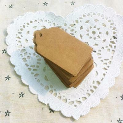 100Pcs Kraft Paper Tags Blank Gift Tags Labels Craft Card Tag Wedding