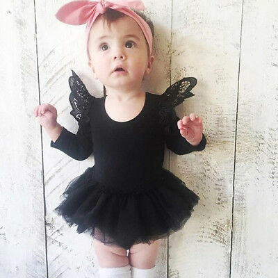 Newborn Baby Girl Ruffle Long Sleeve Romper Tutu Dress Bodysuit Jumpsuit Dresses