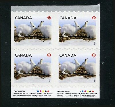 Canada #2426v IMPERFORATE COIL  Inscription Block *'P' ARTIC HAIR* Mint NH