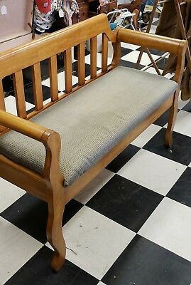 wood bench seat and storage